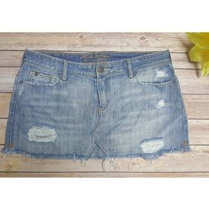Abercrombie Fitch distressed ripped jean skirt